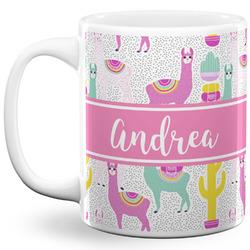 Llamas 11 Oz Coffee Mug - White (Personalized)