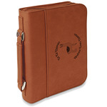 Llamas Leatherette Book / Bible Cover with Handle & Zipper (Personalized)