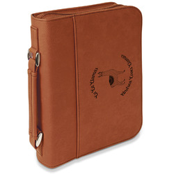 Llamas Leatherette Bible Cover with Handle & Zipper - Large- Single Sided (Personalized)