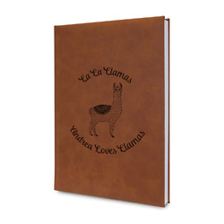 Llamas Leatherette Journal (Personalized)