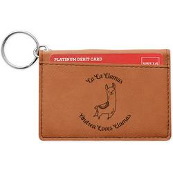 Llamas Leatherette Keychain ID Holder (Personalized)