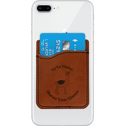 Llamas Leatherette Phone Wallet (Personalized)