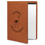 Llamas Leatherette Portfolio with Notepad (Personalized)