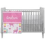 Llamas Crib Comforter / Quilt (Personalized)