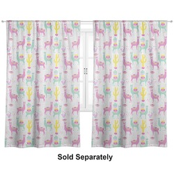 "Llamas Curtains - 20""x63"" Panels - Unlined (2 Panels Per Set) (Personalized)"