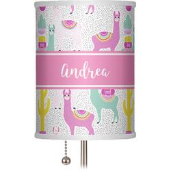 "Llamas 7"" Drum Lamp Shade (Personalized)"