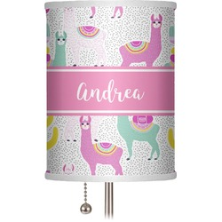 "Llamas 7"" Drum Lamp Shade (Personalized)"