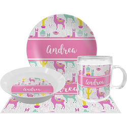 Llamas Dinner Set - 4 Pc (Personalized)