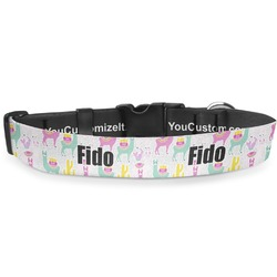 Llamas Deluxe Dog Collar (Personalized)