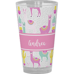 Llamas Drinking / Pint Glass (Personalized)