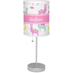 """Llamas 7"""" Drum Lamp with Shade (Personalized)"""