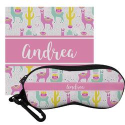 Llamas Eyeglass Case & Cloth (Personalized)