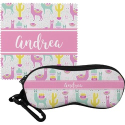 Llamas Eyeglass Case & Cloth (Personalized)