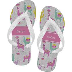 Llamas Flip Flops - XSmall (Personalized)