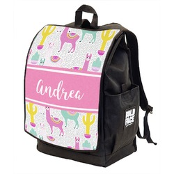 Llamas Backpack w/ Front Flap  (Personalized)