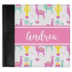 Llamas Genuine Leather Baby Memory Book (Personalized)