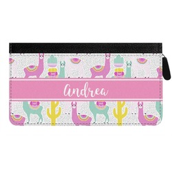 Llamas Genuine Leather Ladies Zippered Wallet (Personalized)