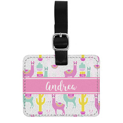 Llamas Genuine Leather Luggage Tag w/ Name or Text