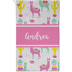 Llamas Golf Towel - Full Print - Small w/ Name or Text