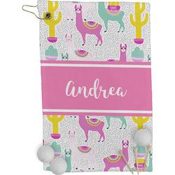Llamas Golf Towel - Full Print (Personalized)