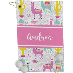 Llamas Golf Towel - Full Print (Personalized)