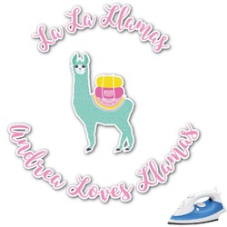 Llamas Graphic Iron On Transfer (Personalized)