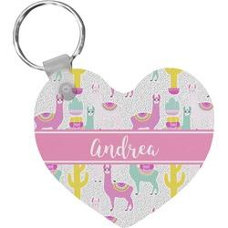 Llamas Heart Keychain (Personalized)