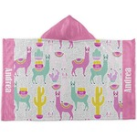 Llamas Kids Hooded Towel (Personalized)