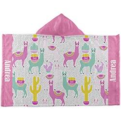 Llamas Kids Hooded Towel (Personalized)