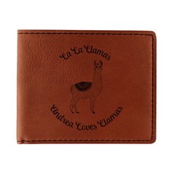 Llamas Leatherette Bifold Wallet (Personalized)