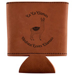 Llamas Leatherette Can Sleeve (Personalized)