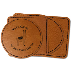 Llamas Faux Leather Iron On Patch (Personalized)