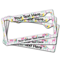 Llamas License Plate Frame (Personalized)