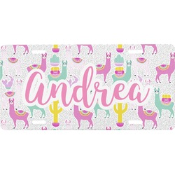 Llamas Front License Plate (Personalized)