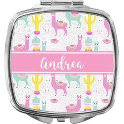 Llamas Compact Makeup Mirror (Personalized)