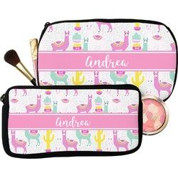 Llamas Makeup / Cosmetic Bag (Personalized)