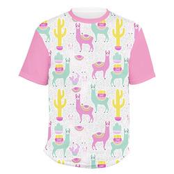 Llamas Men's Crew T-Shirt (Personalized)