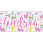 Llamas Mini / Bicycle License Plate (4 Holes) (Personalized)