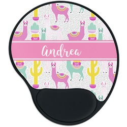Llamas Mouse Pad with Wrist Support