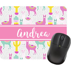 Llamas Rectangular Mouse Pad (Personalized)
