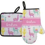 Llamas Oven Mitt & Pot Holder (Personalized)