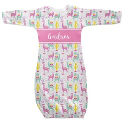 Llamas Newborn Gown - 3-6 (Personalized)