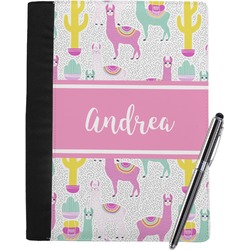 Llamas Notebook Padfolio (Personalized)