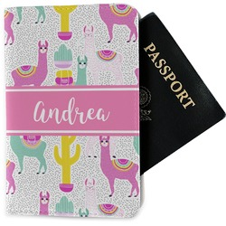 Llamas Passport Holder - Fabric (Personalized)