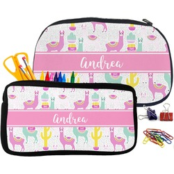 Llamas Neoprene Pencil Case (Personalized)
