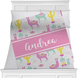 "Llamas Fleece Blanket - Twin / Full - 80""x60"" - Double Sided (Personalized)"