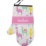 Llamas Left Oven Mitt (Personalized)