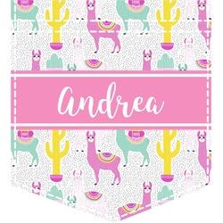 Llamas Iron On Faux Pocket (Personalized)