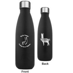 Llamas RTIC Bottle - Black - Engraved Front & Back (Personalized)