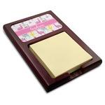 Llamas Red Mahogany Sticky Note Holder (Personalized)